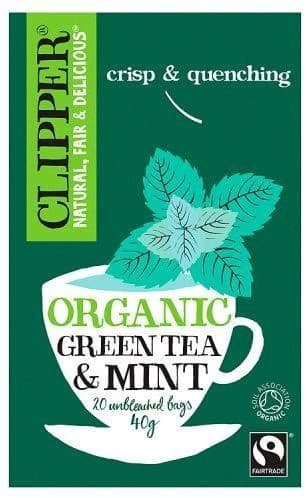 Clipper Organic Fairtrade Pure Green Tea with Peppermint